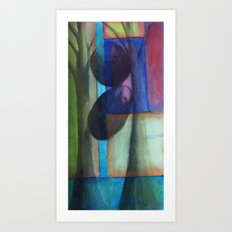 Grounded V, Two Stones Art Print