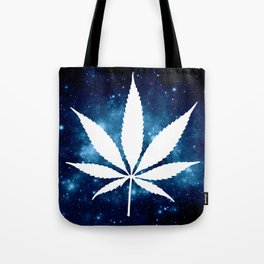 Weed : High Times Blue Galaxy Tote Bag