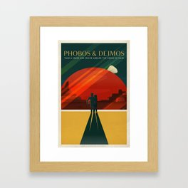 SpaceX Mars tourism poster Framed Art Print