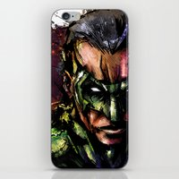 green lantern iPhone & iPod Skins featuring Green Lantern by Vincent Vernacatola