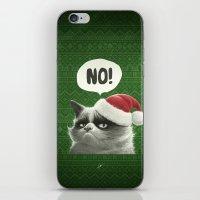 grumpy iPhone & iPod Skins featuring Grumpy Xmas by Dr. Lukas Brezak