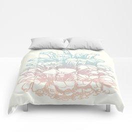 Rainbow Pine Cone Comforters