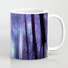 Fantasy Forest Path Icy Violet Blue Coffee Mug