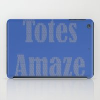 totes iPad Cases featuring Totes Amaze Blue/Grey by PintoQuiff