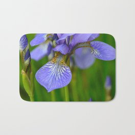 Siberian Iris by Teresa Thompson Bath Mat