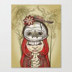 i wear my lucky skull  Canvas Print