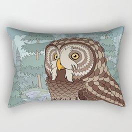 Great Gray Owl Rectangular Pillow