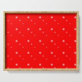 Pattern in white and red Serving Tray