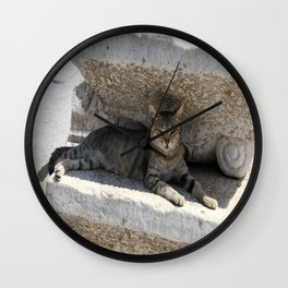 Guardian Of The Ruins Wall Clock