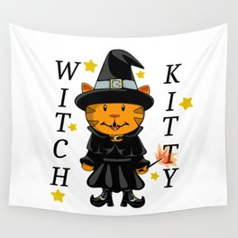 Witch Kitty Wall Tapestry