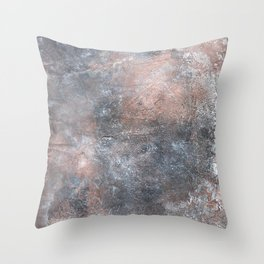 Burned Copper A Throw Pillow