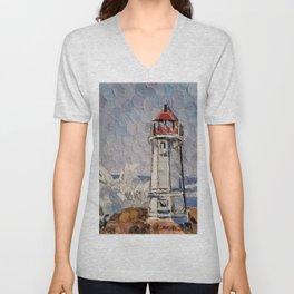 """ Lighthouse "" Unisex V-Neck"