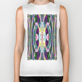 165 - colourful abstract design Biker Tank