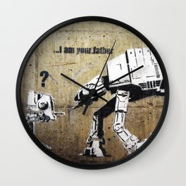 Banksy, I am your father Wall Clock