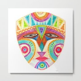 let's fly and reach the sky mask Metal Print