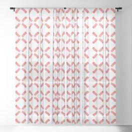 Minimalist Windmill Pattern Brush Graphic Artwork Tangerine Tango Love Sheer Curtain