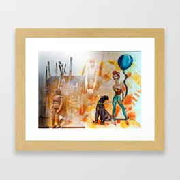 The Tools of Illustration Framed Art Print