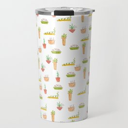 Potted plants and herbs pattern Travel Mug