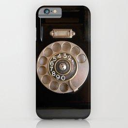 OLD BLACK PHONE iPhone Case