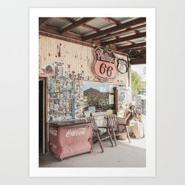 Vintage Tankshop Route 66 Sign Photo | American Scenery Arizona Art Print | USA Travel Photography Art Print