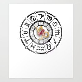 Capricorn Astrological Signs Capricorn Baby Chinese Astrology Lovers Art Print