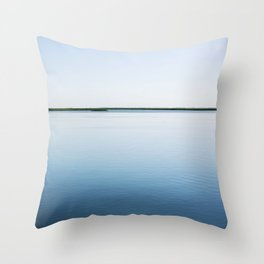 Cyan Waters in Georgia Throw Pillow