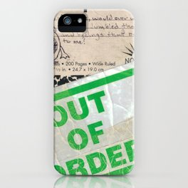 Out of Order iPhone Case