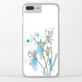 Calla Lily Clear iPhone Case