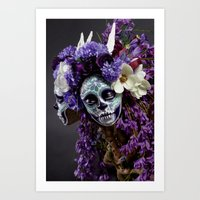 Willow Blossom Muertita Detail Art Print
