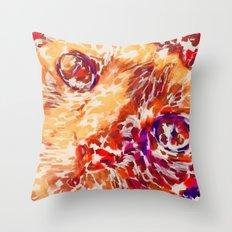 Socca The Cat Expressionism Impressionism  Pop Art Throw Pillow