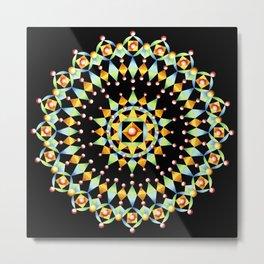 Bijoux Mandala Metal Print