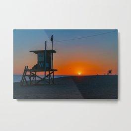 Wedge Sunset Between the Towers Metal Print