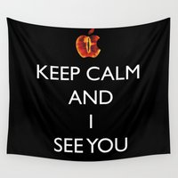 keep calm Wall Tapestries featuring KEEP CALM  by Caio Trindade