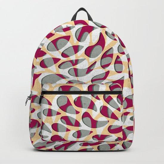 Organic Petals Pattern Magenta Gray Backpack