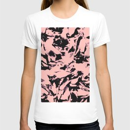 Old Rose Black Abstract Military Camouflage T-shirt