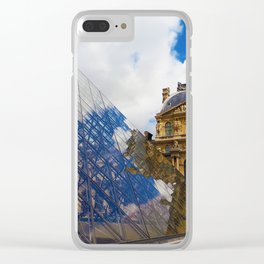 The Louvre Pyramid Clear iPhone Case