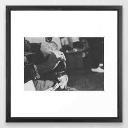 now im listening  Framed Art Print