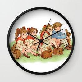 Rabbit Children Wall Clock