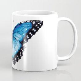 Blue Morpho Butterfly, the Menelaus blue morpho (Morpho menelaus) Butterfly, Blue Butterfly Coffee Mug