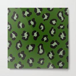 cheetah cheetah kelly green Metal Print