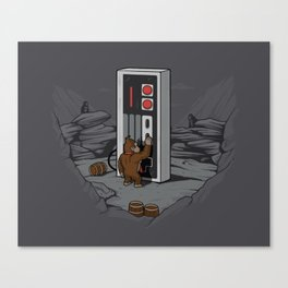 Dawn of gaming Canvas Print
