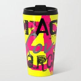 Peace Love Anarchy Travel Mug