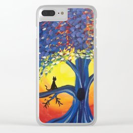 Kitties Love Sunsets Clear iPhone Case