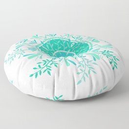 Leaflets – Mint Ombré Palette Floor Pillow