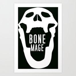 Bone Mage Skull  Art Print