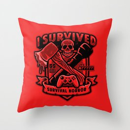 I Survived Survival Horror Throw Pillow