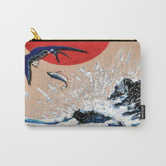 Japan Wave  Carry-All Pouch