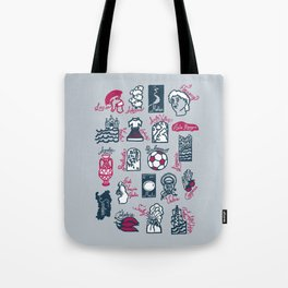 Italy in 20 regions Tote Bag