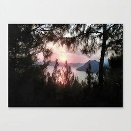 Solemn Sunset  Canvas Print