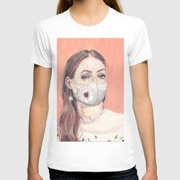 Flower Mask Girl T-shirt